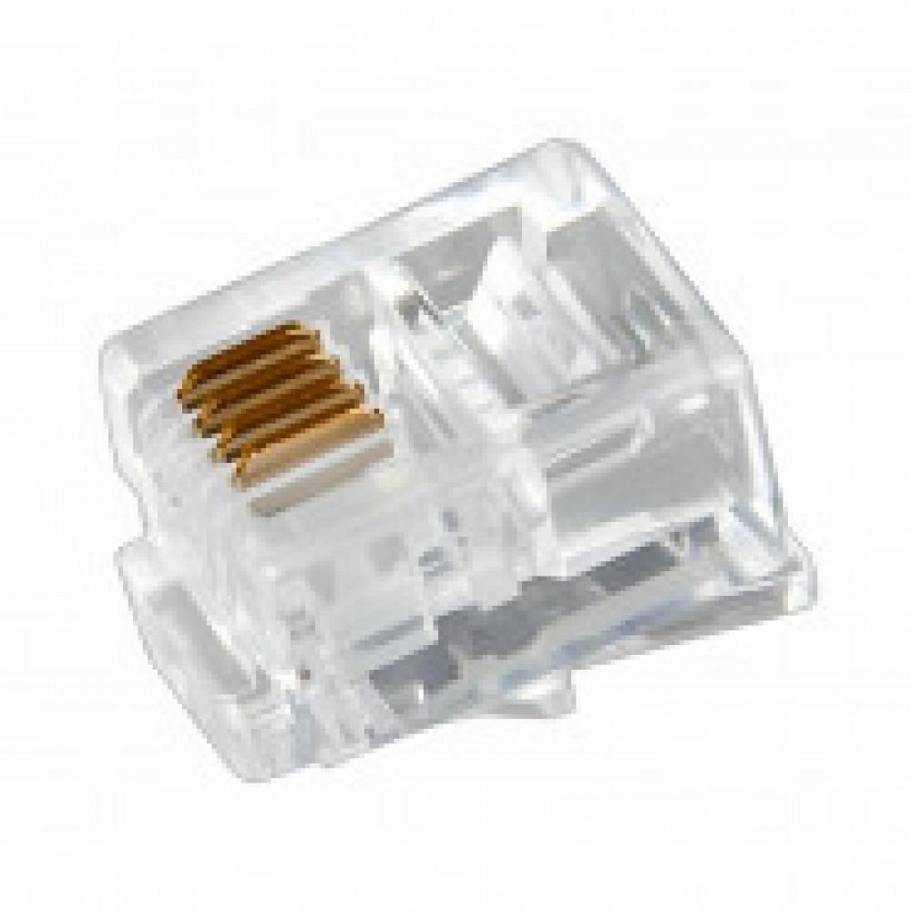 Джек телефонный Rexant 6P4C 100 шт. (05-1012)