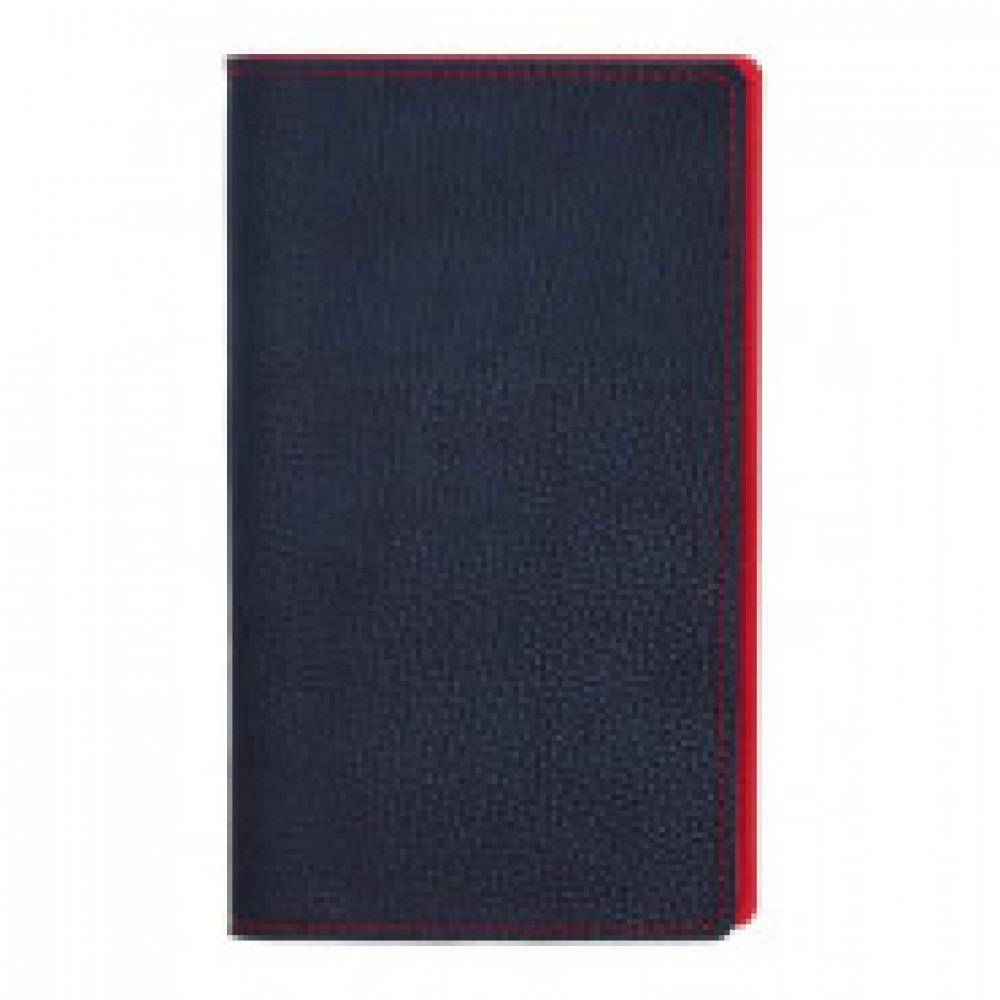 Визитница настольная А5,96виз,гибкая,темн-синяя,красн простр. АТТАСНЕBizon