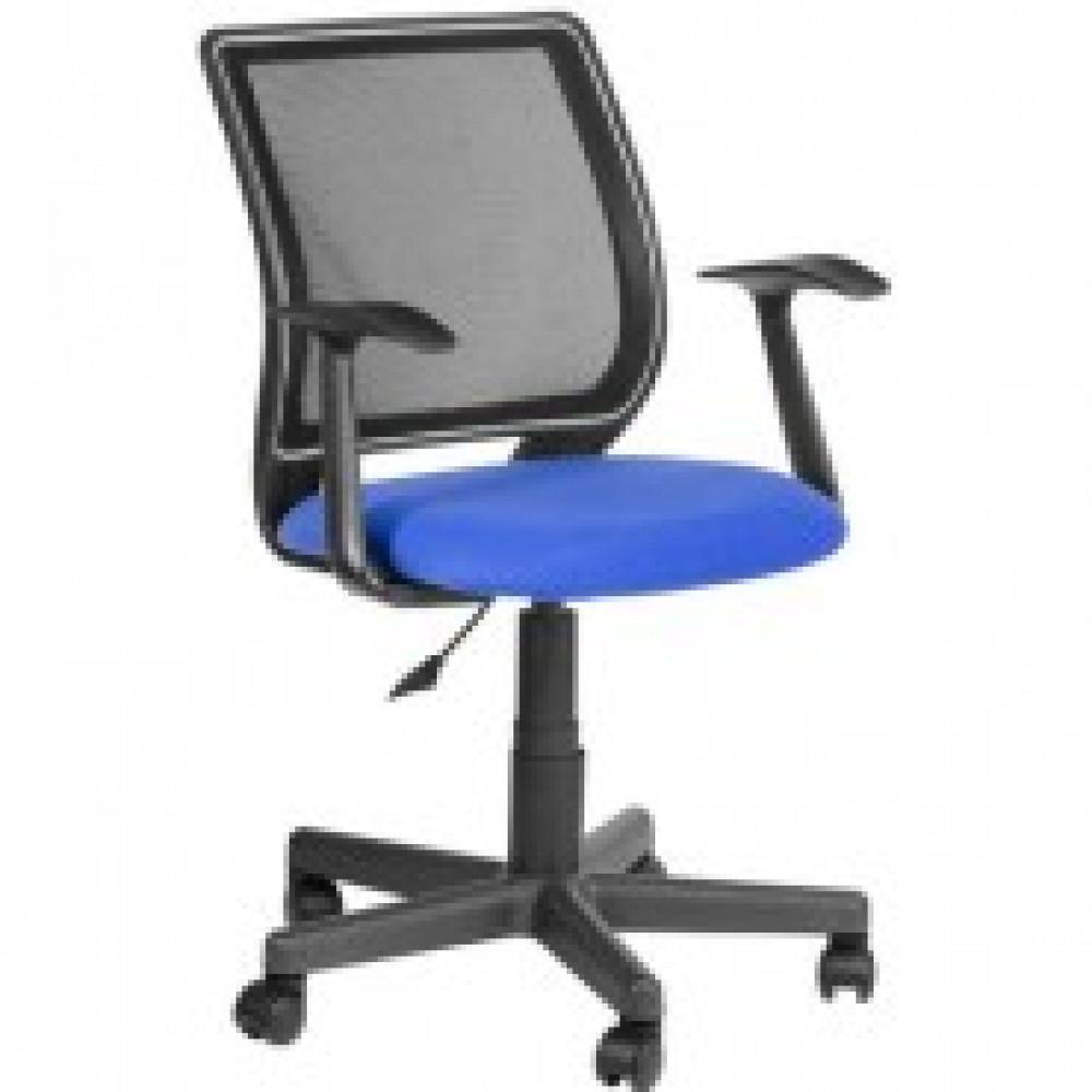 Кресло OL_Оператора Эксперт ткань синяя/сетка черная, пластик