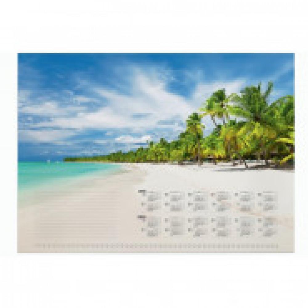 Блокнот-календарь для коврика на стол DURABLE арт 214807, тропический пляж