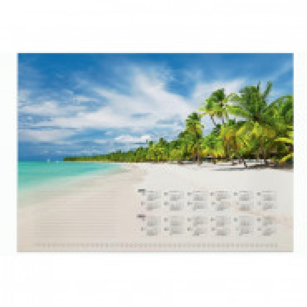 Блокнот-календарь для коврика на стол Durable голубой 570х410 мм