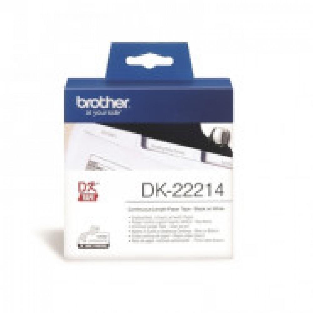 Картридж к этикет-принтеру Brother DK22214 12ммх30,5м бум для QL