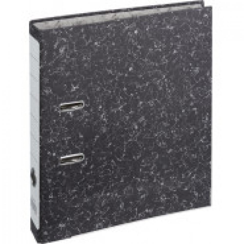 Папка-регистратор 50 мм мрамор черная