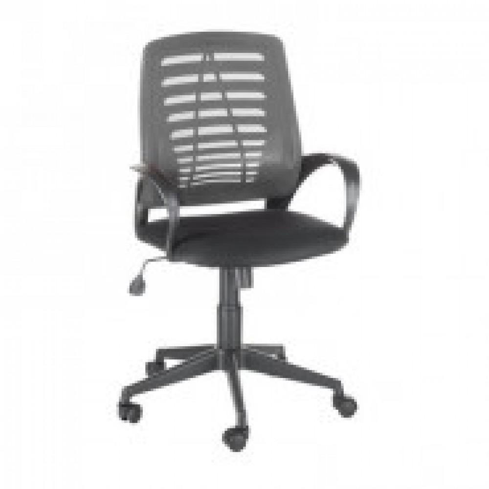 Кресло OL_Ирис сиденье черное TW/спинка серая TW