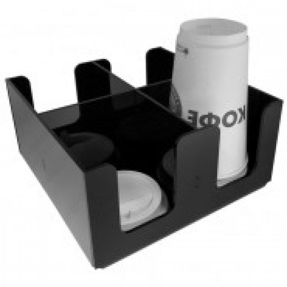 Диспенсер под стаканы и крышки 4 секций (4шт/уп)
