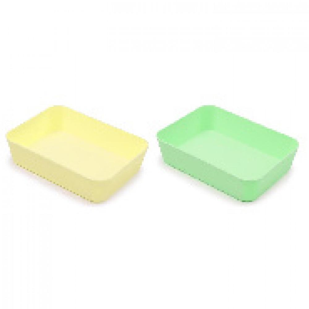 Лоток для канцелярских мелочей Attache Selection 2шт/уп желтый и зеленый