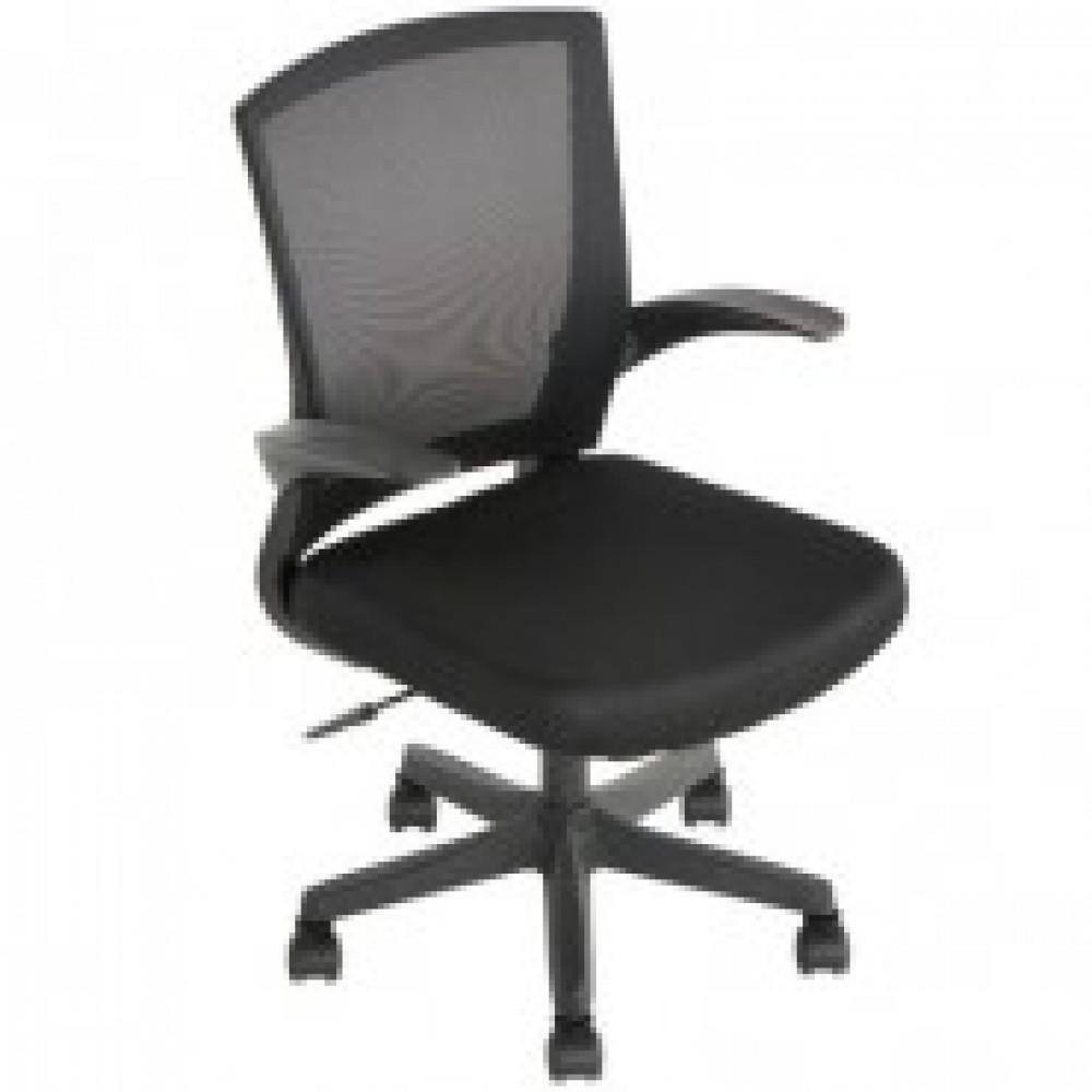 Кресло BN_Cm_EChair- 316 TTW net пласт.черн.,ткань черн/сетка черн.