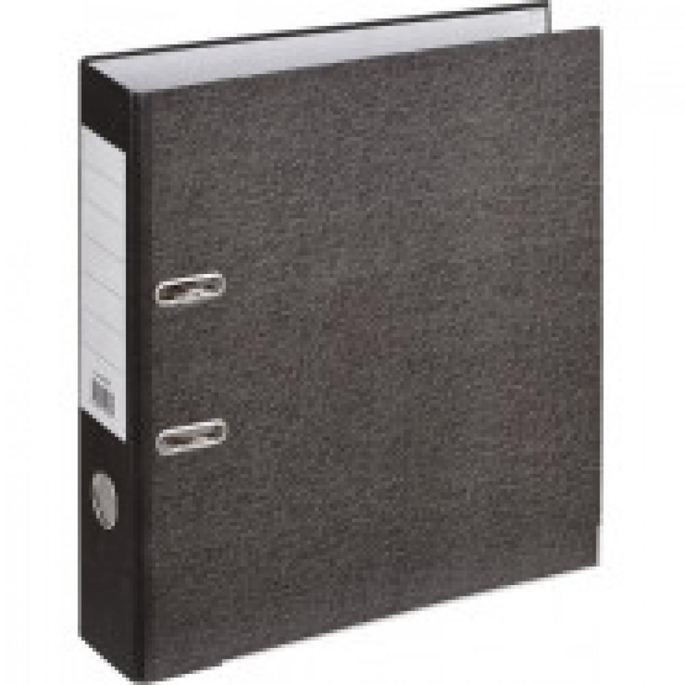 Папка-регистратор Attache 75 мм мрамор в ассортименте (черная/серая) (10 штук в упаковке)
