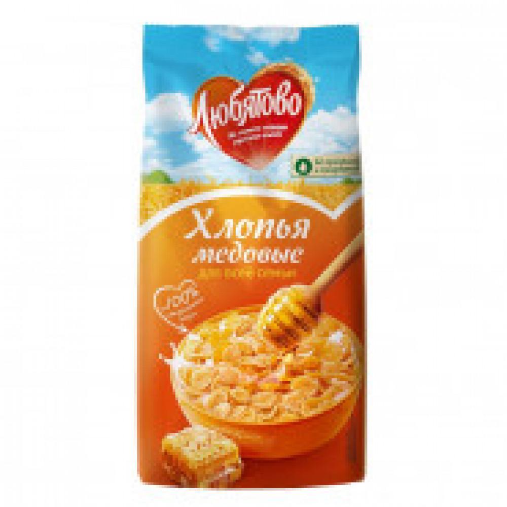 Завтрак хлопья кукурузные медовые Любятово, 250г