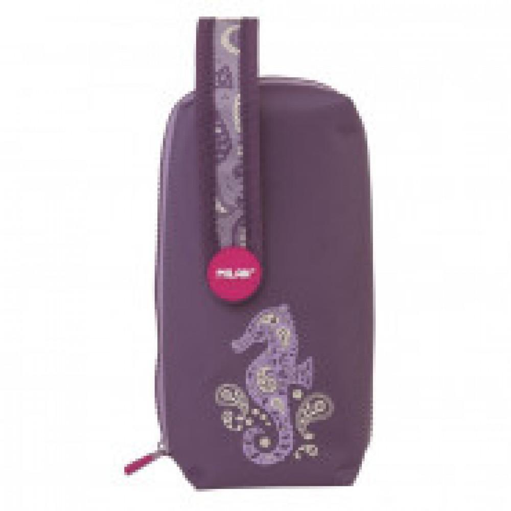Пенал Drops на ручке с 4-мя пеналами с наполн.,  темно-фиолетовый,08872DPPL
