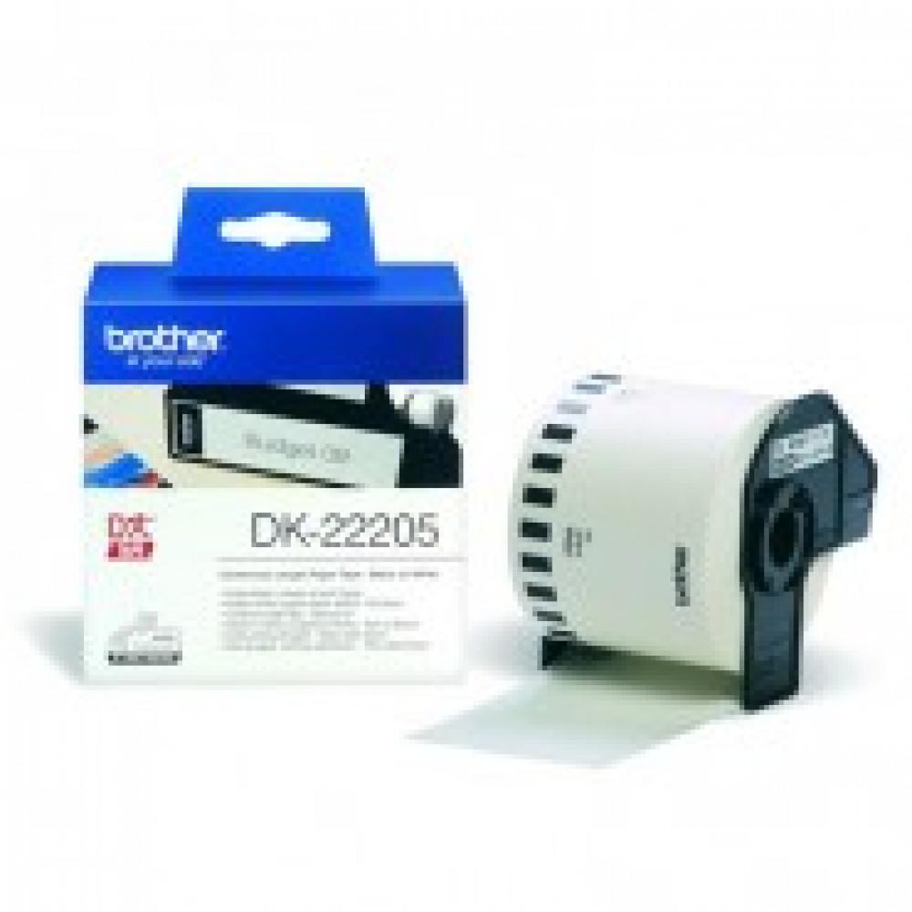 Картридж к этикет-принтеру Brother DK22205 62ммх30,5м чер/бел бум. для QL