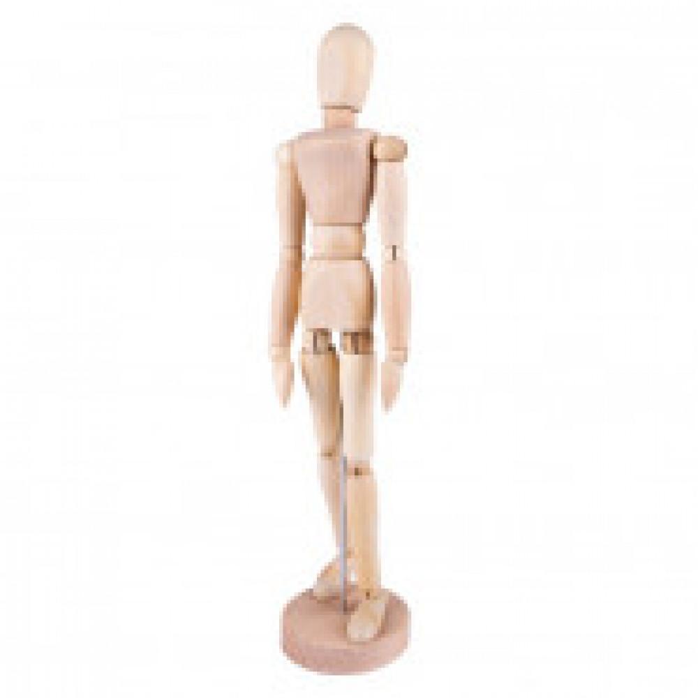 Манекен человека деревянный 30 см, женский DK16204