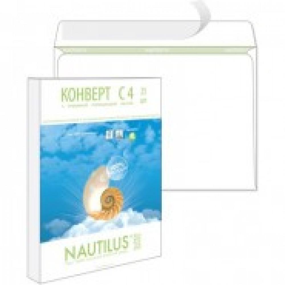 Конверты Nautilus,ЭКО, С4(229х324мм), стрип,90г, 25шт/уп