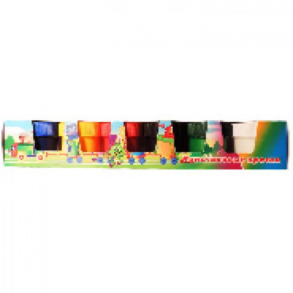 Краски пальчиковые Яркая забава 6 цветов (40 мл)