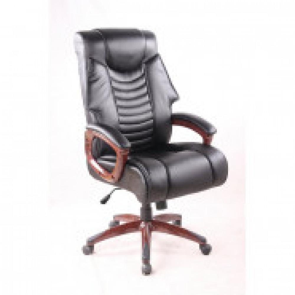 Кресло BN_Dp_EChair-636 ТR, рециклированная кожа черная, пластик